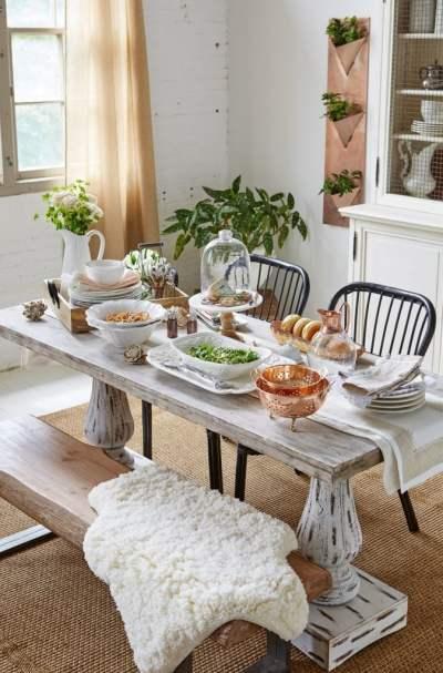 Modern Farmhouse Dining Room + Video {HomeGoods photoshoot ...