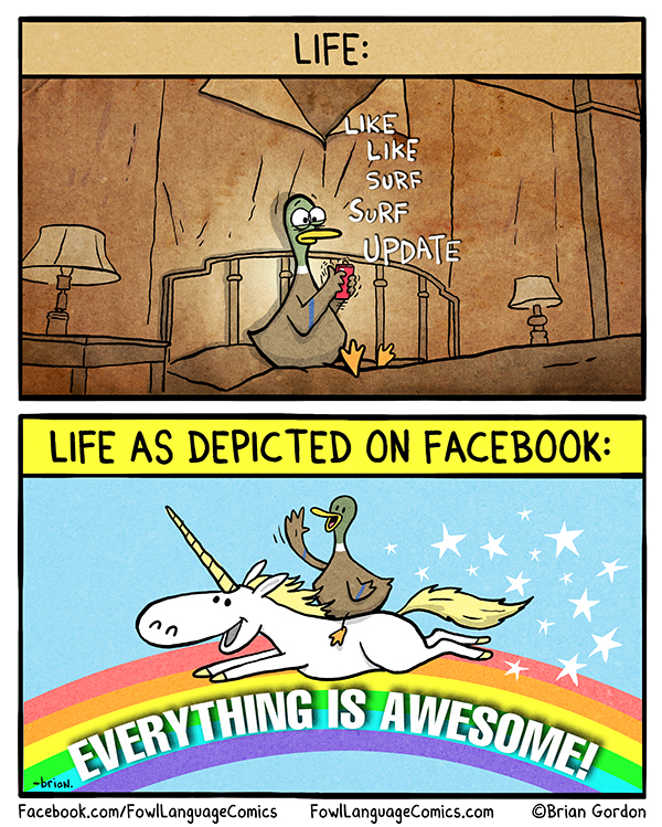 Life VS Life on Facebook