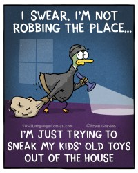 robbing the place