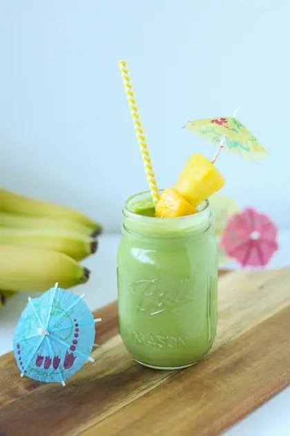 Tropical Green Smoothie from Fox and Briar