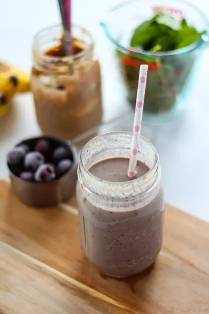 Cherry Almond Green Smoothie