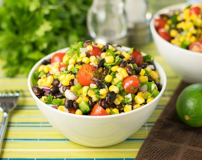 Black Bean and Corn Salad with Lime Juice