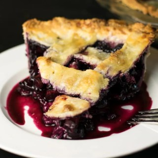 Rhubarb Blueberry Pie