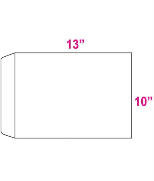 White envelope 10 x 13 fp media for 10 x 13 window envelope
