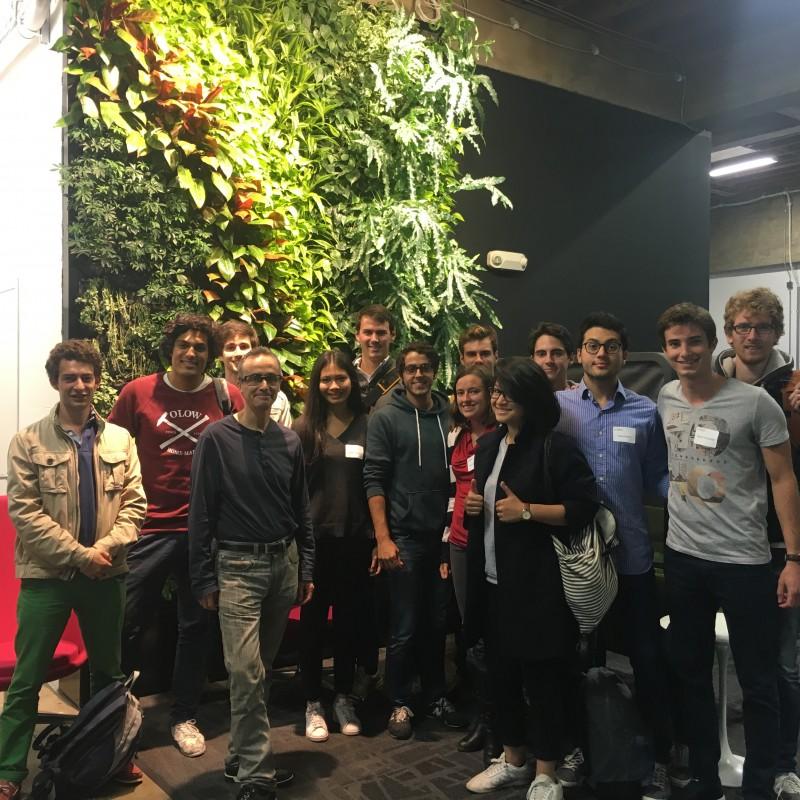 La promo 2015-2016 de Le Bridge rendent visite à Jean-Baptiste Rudelle fondateur de CRITEO dans ses locaux à San Francisco
