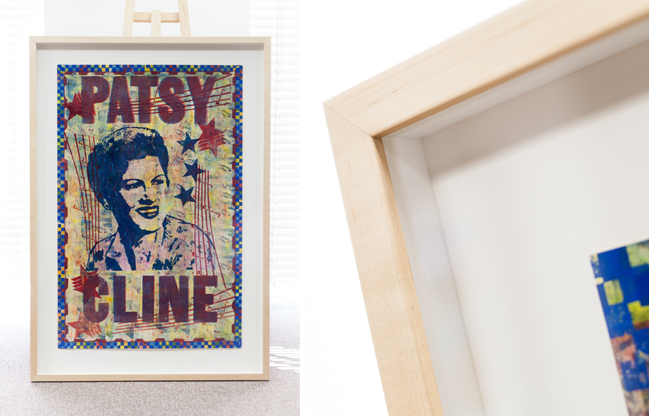 Patsy-Cline-Shadowbox-Wood-Frame-Spacer-Artglass