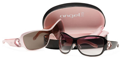 Proceeds from the same of Angel Imagination sunglasses will help fight breast cancer