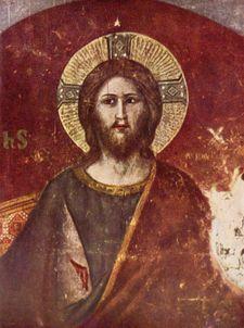 Pietro Cavallini - Particolare del giudizio: Cristo Giudice