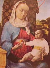Madonna col Bambino: Vincenzo Foppa, 1470 Staatliche Museen Berlino