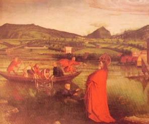 La pesca miracolosa: Konrad Witz, 1444 Ginevra Musee d'Art et Historie