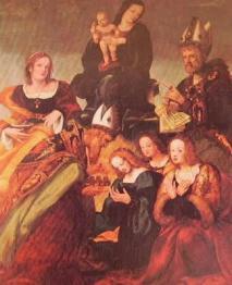 Madonna e Santi 1519. Amico Aspertini Bologna S. Martino Cappella della navata destra.