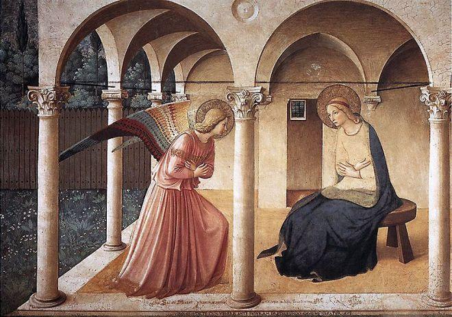 Beato Angelico: Affreschi di San Marco Annunciazione