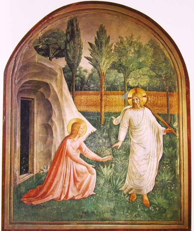 Beato Angelico: Affreschi di San Marco - Noli me tangere