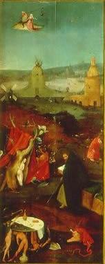 Hieronymus Bosch: Trittico delle tentazioni - La meditazione di Sant'Antonio