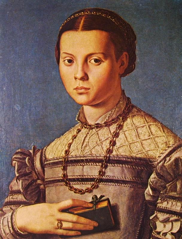 Il Bronzino: Ritratto di giovinetta con libro