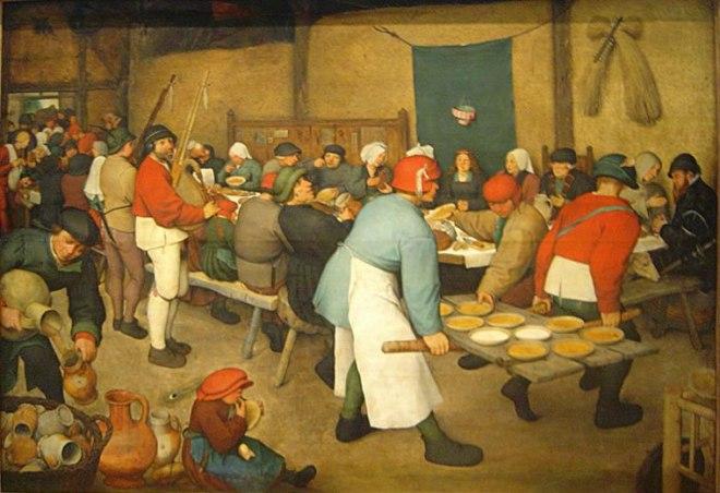 Pieter Bruegel: Banchetto nuziale