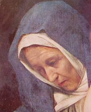 Particolare del volto della Madonna
