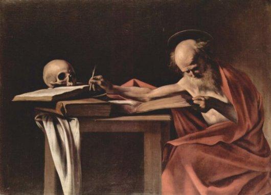 Caravaggio - S. Gerolamo scrivente