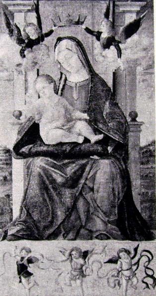 Carpaccio: Madonna col Bambino in trono e cinque angeli
