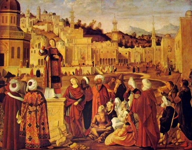 Carpaccio: La predica del santo