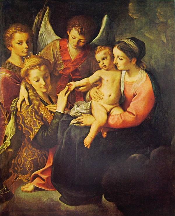 Annibale Carracci: Nozze mistiche di Santa Caterina