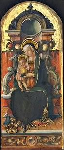 Carlo Crivelli: Polittico di Porto San Giorgio - Madonna col Bambino in trono e donatore