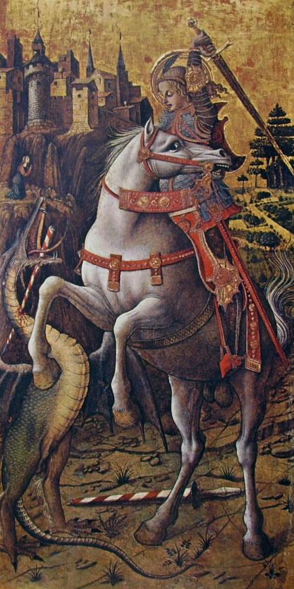 Carlo Crivelli: Polittico di Porto San Giorgio - San Giorgio e il drago