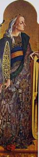 Santi Caterina a d'Alessandria e Pietro(registro centrale)