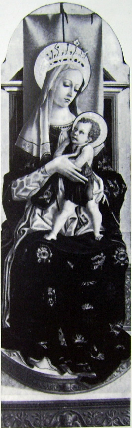 Carlo Crivelli: Polittico di Montefiore - Madonnacol Bambino in trono