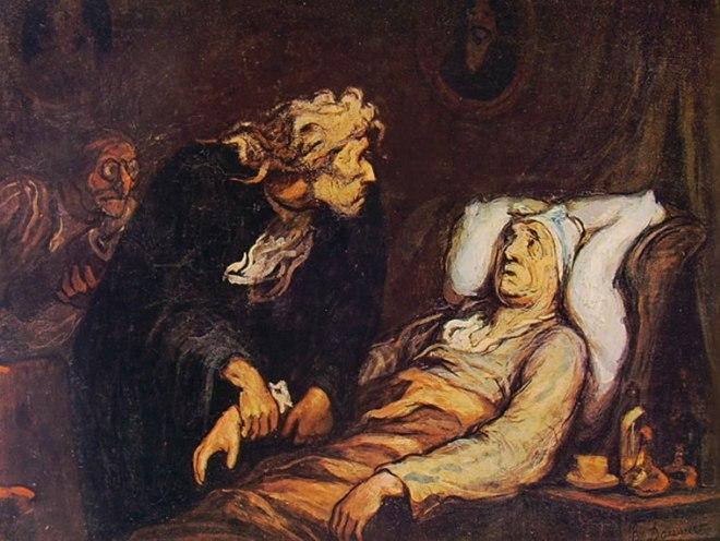 Honoré Daumier: Il malato immaginario