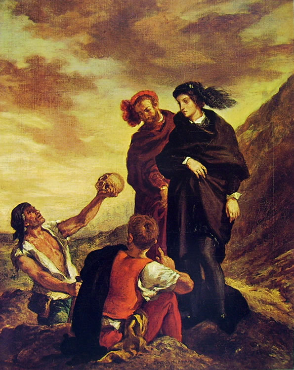 Eugène Delacroix: Amleto e Orazio al cimitero