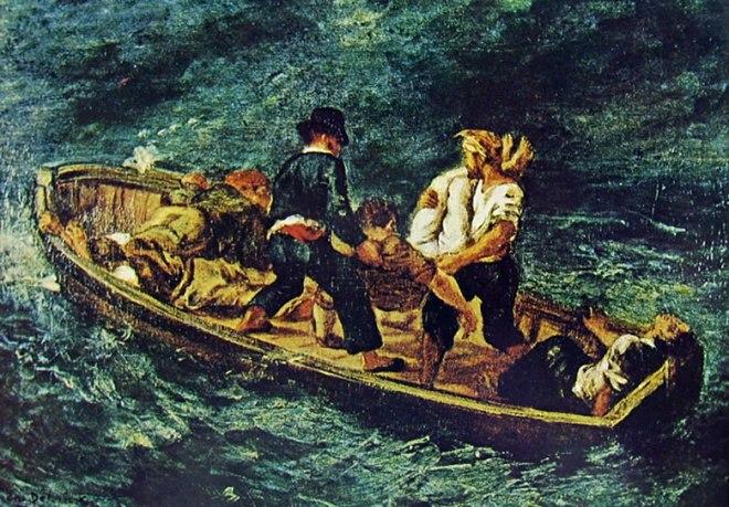 Eugène Delacroix: Canotto di Naufraghi