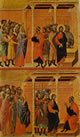 Duccio - Cristo accusato dai farisei e Cristo interrogato da Pilato