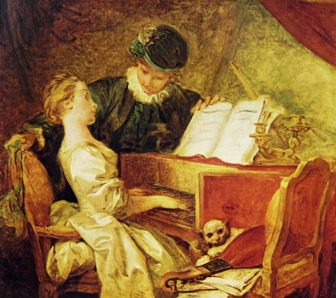 Jean-Honoré Fragonard: Lezione di Musica