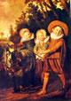 7 Frans Hals - Tre ragazzi con carretto tirato da una capra