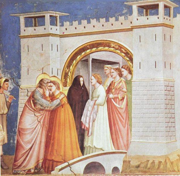 Giotto: L'incontro alla porta aurea