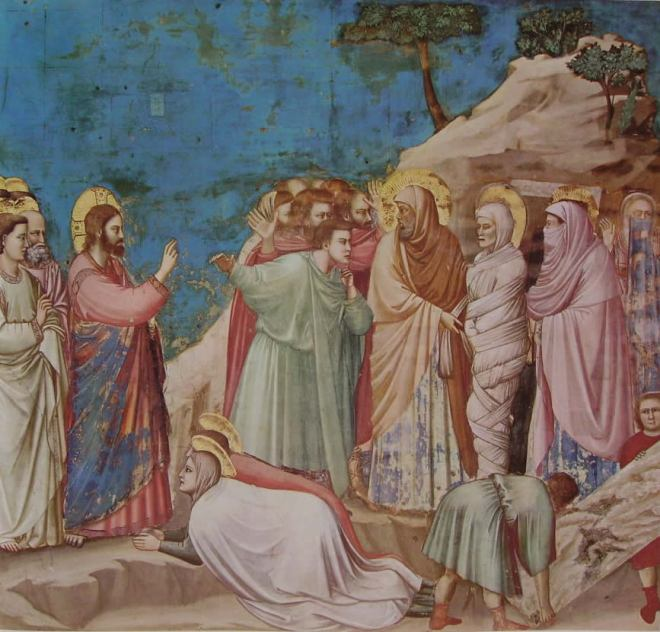 Giotto: La resurrezione di Lazzaro