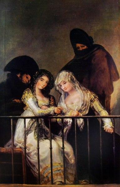 Goya - Majas al balcone