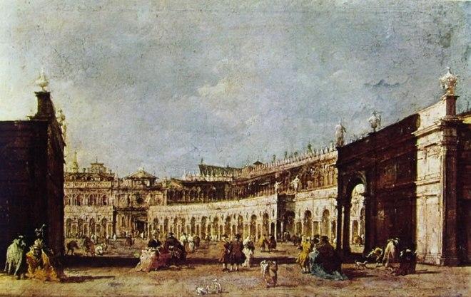 Francesco Guardi: Piazza San Marco parata per la festa della Sensa