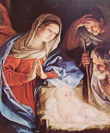 Particolare della Madonna con Bambino dell'Adorazione dei pastori