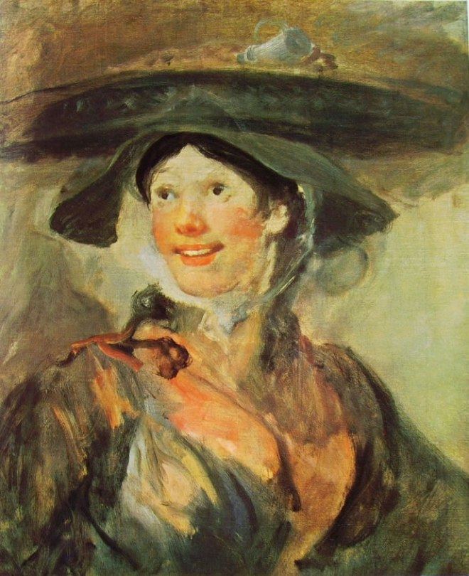 William Hogarth: Ragazza con cesto sul capo