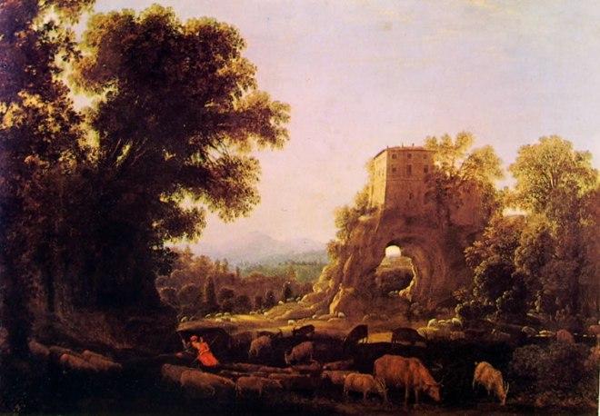 Lorrain: Paesaggio con pastori