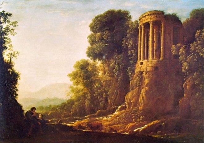 Lorrain (Claude Gellée): Paesaggio con il Tempio della Sibilla a Tivoli