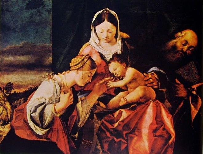 Lorenzo Lotto: Nozze mistiche di Santa Caterina