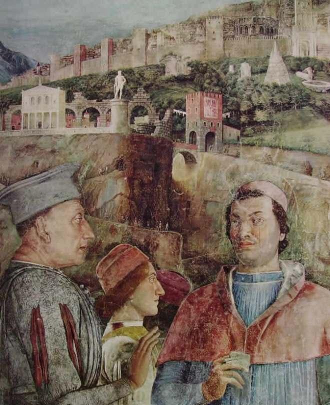 Mantegna: Camera degli sposi - l'incontro, cm. 300 Palazzo ducale di Mantova