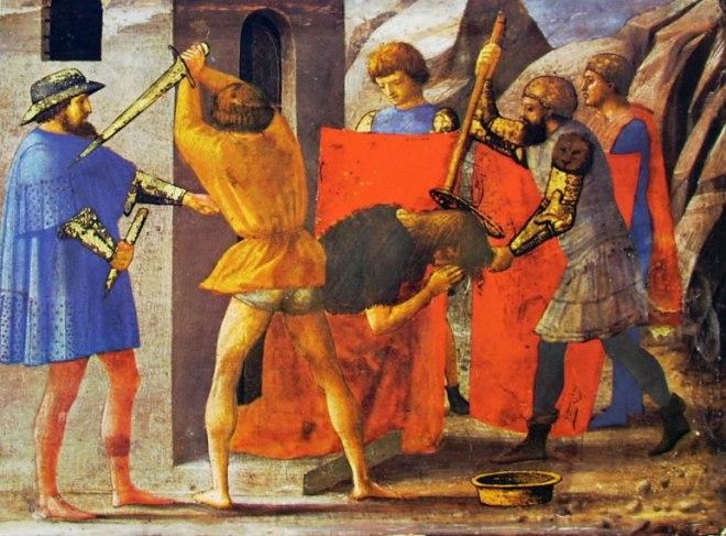 Masaccio: Polittico di Pisa: Il martirio del Battista