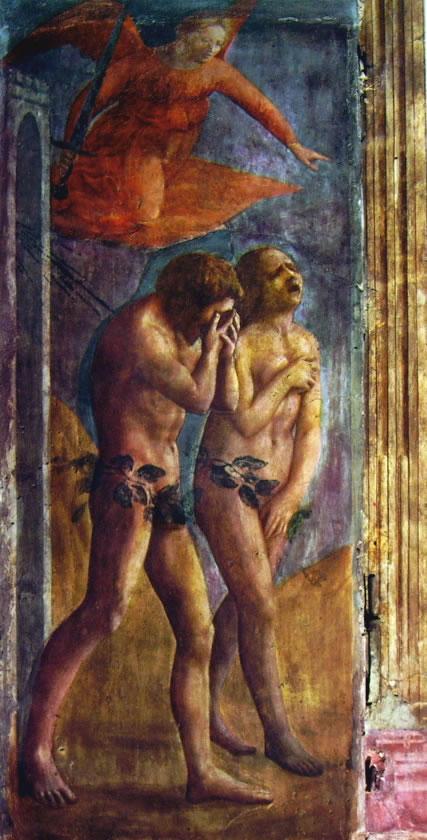 Masaccio: Cappella Brancacci: La cacciata dei progenitori