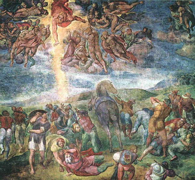 Michelangelo: La conversione di Saul (Paolo), Cappella Paolina, Vaticano