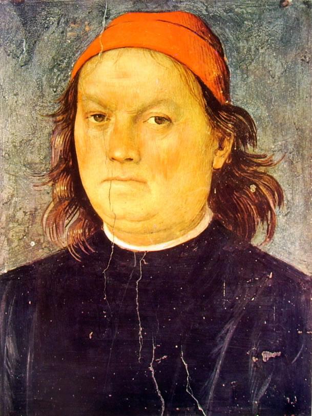 Il Perugino: Ornamentazione del Cambio - Autoritratto