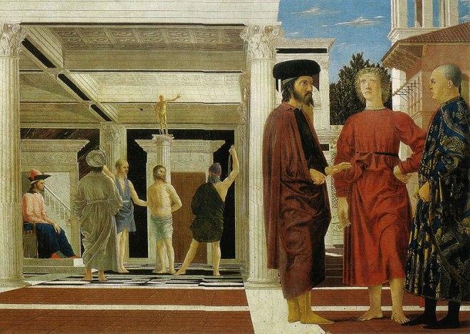 Piero della Francesca: La Flagellazione di Cristo